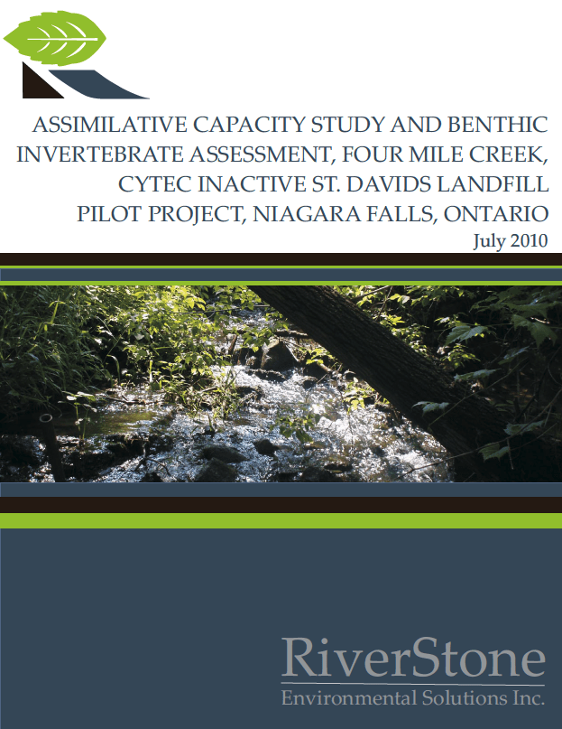 Assimilative Capacity Study