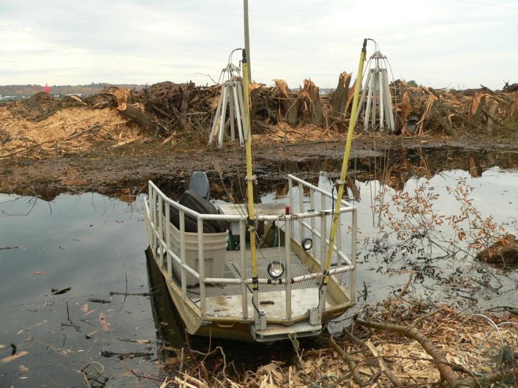 RiverStone's electrofishing boat
